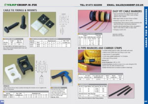 Cable Tie Mounts & Markers p36-37