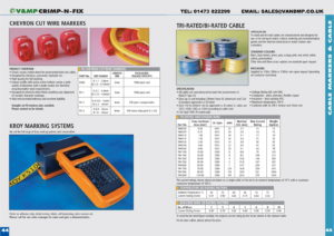 Markers & Tri-rated Cable p44-45