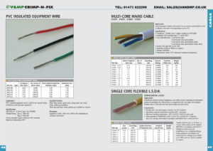 Equipment Wire & Mains Cable  p46-47